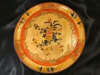 Vintage 1950 Hand Painted Lacquered Plate - Italian Design