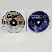 Frogger & Missile Command (Sony PlayStation 1, 1997) PS1 Game Discs Only