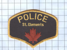 Police Patch - Manitoba - St. Clements Canada