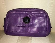BOTKIER Purple LEATHER Multifunction Travel Cosmetic Coin PURSE