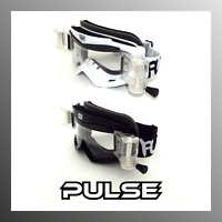 PULSE VORTEX MOTOCROSS MX ENDURO ATV BMX MTB GOGGLES + 5 ROLL OFF FILMS