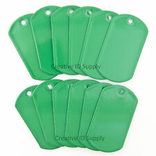100 Green Blank Military Spec Dog tags Blank Stainless Steel Wholesale tag