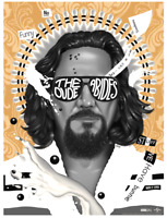 Big Lebowski The Dude Abides Variant Screenprint by Doaly Limited edition of 125
