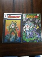 Bloodshot #1, #7 1993 1st Ninjak in Costume White Pages