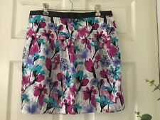 HOT OPTIONS Ladies Beautiful Pink & Blue Floral Print Skirt (Size 14)