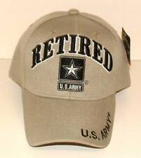 US Army Retired New Beige 3D Embroidered Military Licensed Ball Cap/Hat.