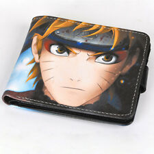 Anime Naruto Uzumaki PU Leather Wallet Purse Money Clip Card Holder Cosplay Gift