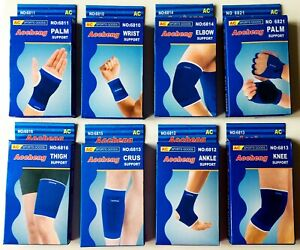 2 X LEG ANKLE ELBOW KNEE WRAP PALM THIGH WRIST INJURY MUSCLE SUPPORT SPORTS PAIR