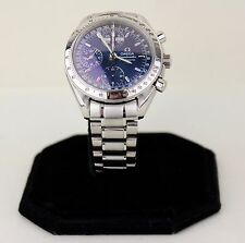 Men's Omega Speedmaster Day-Date 3523.80 Automatic Wristwatch Blue Dial - 39mm