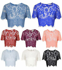 Cotton Blend Cropped Floral Tops & Shirts for Women