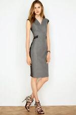 Next Grey Herringbone Wool Dress 14Tall