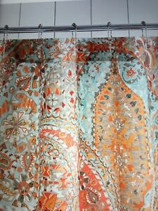 pottery barn paloma paisley shower curtain #1344