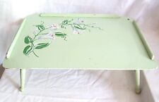 Vintage Wood BREAKFAST TRAY TV TRAY BED TRAY  LAPTOP Table FOLDING SPRING LEGS