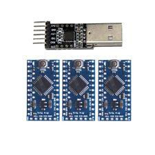 3x Arduino Pro Mini Atmega328 ATMega 328 5V/16MHz With USB TTL