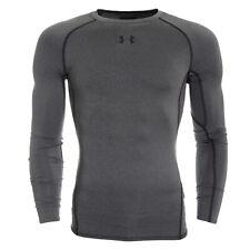 Under Armour Men's Ua HeatGear Armour Ls Compression Shirt - Large - Grey - New