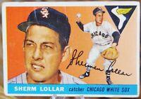 1955 Topps Baseball Card #201 Sherm Lollar, Chicago White Sox - VG