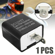 2-Pin LED Flasher Relay Fix Turn Signal Light Bulb Hyper Flash Issue Adjustable