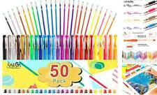 50 Set Gel Pens Colored Glitter For Coloring Books Drawing Art Marker Kids Adult