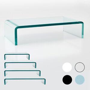 TV Glasaufsatz Schreibtisch Glas Aufsatz Monitorerhöhung Fernseh Podest LED TV