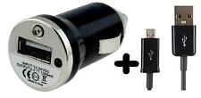 BLACK USB CAR TRAVEL CHARGER 1000mAh + MICRO USB CABLE FOR SAMSUNG S3 S4 MINI