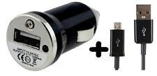 NERO USB AUTO CARICABATTERIE VIAGGIO 1000mAh + Micro USB Cavo per Samsung S3 S4 MINI