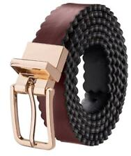 Silky Toes Scalloped Leather Reversible Adjustable Belts for Women with Buckle,