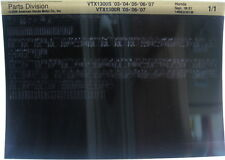 Honda VTX1300S 2003 - 2007 Parts List Microfiche h380