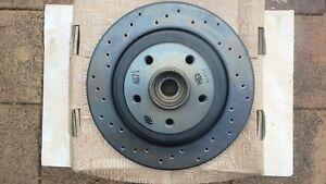 RENAULT MEGANE II RS 225 (2004-2009) REAR BRAKE DISC DRILLED GENUINE (PAIR)