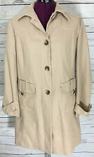 Work to Weekend Beige Trench Coat Jacket Size M
