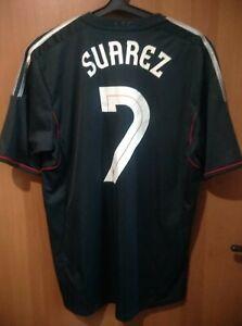 Liverpool #7 Suarez original Adidas away shirt jersey trikot 11-12 season Size L