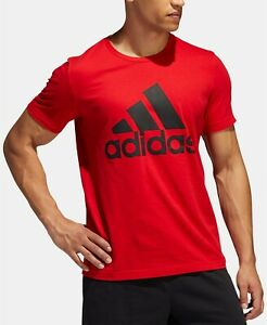 adidas Men's Badge of Sport Logo Tee Color Scarlet Size S style #FI7031