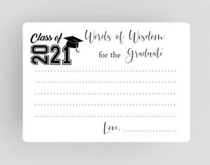 Words of Wisdom Cards for Graduate Class of 2021, College and High School