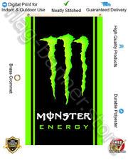 Monster Energy Drink Flag Banner 3x5ft Vertical Garage Shop Decor Sign FREE SHIP