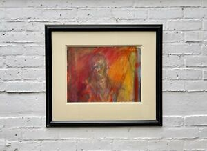 Mixed Media Original Artwork with Black Frame by Annie Field