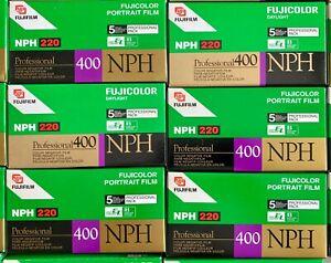 FUJI FUJIFILM NPH 220 ISO 400 PROFESSIONAL C41 COLOR NEGATIVE 5 FILM ROLLS 2003