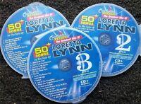 LORETTA LYNN 3 CDG DISCS CHARTBUSTER KARAOKE COUNTRY 50 SONGS CD+G MUSIC 5076