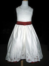 IVORY/RED GIRLS/FLOWER GIRL/BRIDESMAID/PARTY DRESS NEW Size 2
