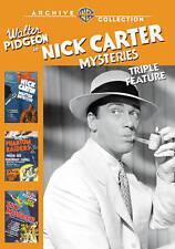 Nick Carter Mysteries Triple Feature, Good DVD, Walter Pidgeon,