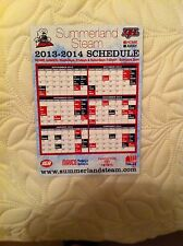 2013-14 Summerland Steam Kijhl League MAGNETIC GAME SCHEDULE