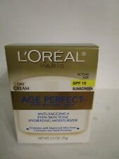 Loreal Age Perfect 2.5 oz. day cream hydrating moisturizer Spf 15 sunscreen