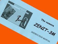ENGLISH MANUAL for ZENIT-3M SLR camera M39 lens mount KMZ INSTRUCTION BOOKLET