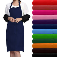 Men Women Chef  Cooks utchers  BBQ  Baking Chef Cotton Apron Half Waist UK