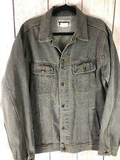 Wrangler Rugged Wear Denim Jean Trucker Jacket Mens L Stone Grey