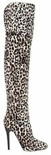 NEW Jimmy Choo Leopard 3k Titan Over the Knee Shoes Boots Size 36 6