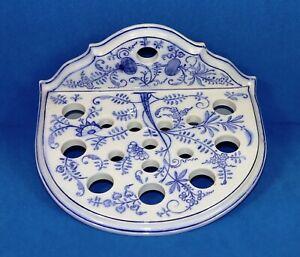V&B Villeroy &Boch Wandhalter Löffelhalter Zwiebelmuster Porzellan blau weiß alt