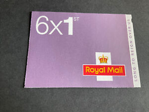 GB Walsall MB15 Long to Reign Over Us Booklet 6 x 1st Class O15R Machin U3746