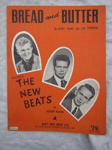 VINTAGE SHEET MUSIC NEWBEATS BREAD AND BUTTER