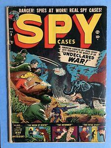 Marvel Atlas Comics Spy Cases #9 G/VG (3.0) 1952