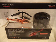 PROPEL Orange  REMOTE CONTROL HELICOPTER CHROME FLYER MICRO WIRELESS