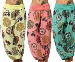 Women' Harem Trousers Ali Baba Long Pants Baggy Hareem Leggings Plus Sizes L,XL,